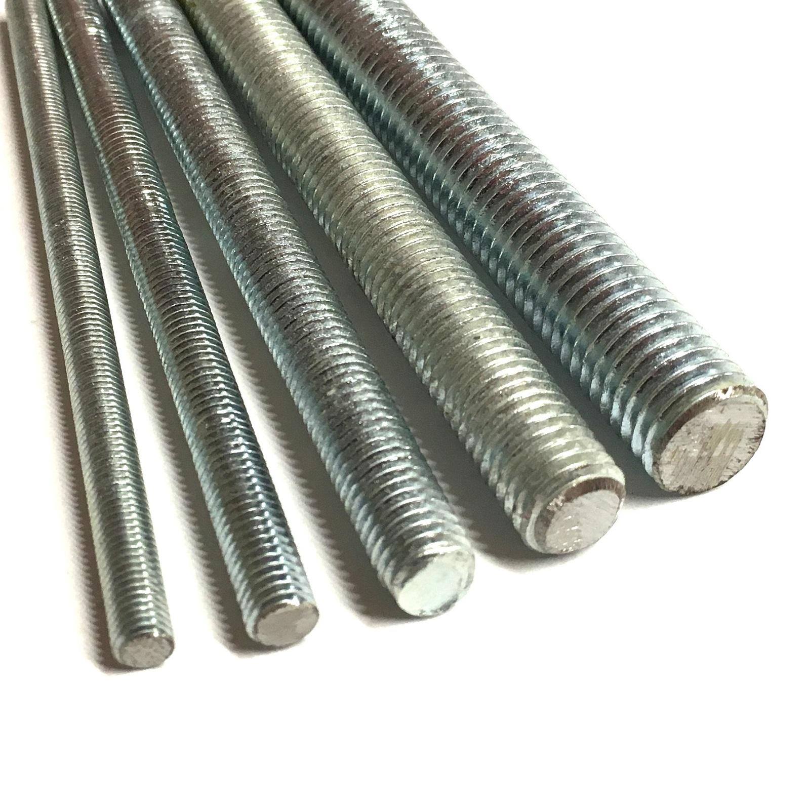 1 Metre of M4 or 4mm Zinc Plated Threaded Bar Threaded Studding Stud Bar