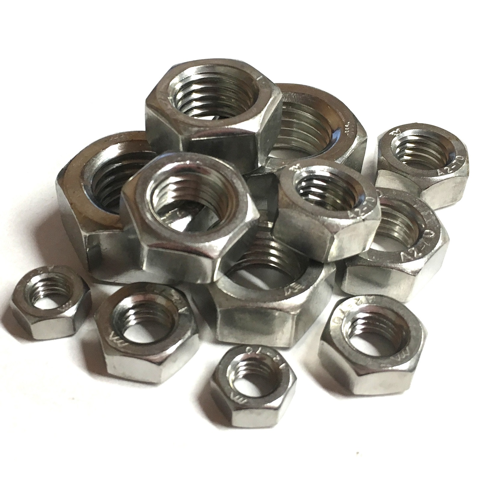 A2 STAINLESS STEEL Hex Full Nuts UNF 1//4 5//16 3//8 7//16 imperial