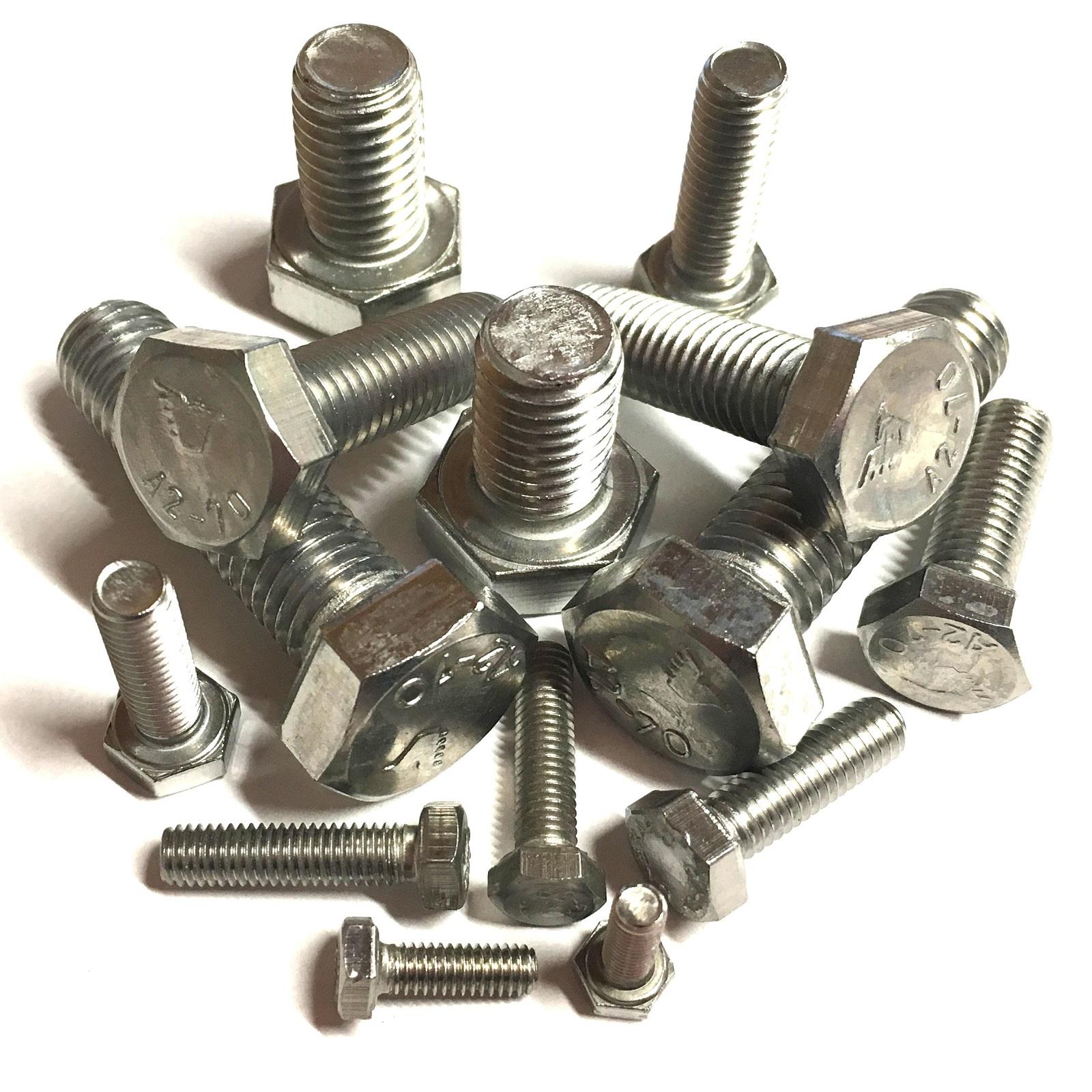 | Vis/ /Vis hexagonale Lot de 4 dering Vis /à t/ête hexagonale DIN 933/A2/en acier inoxydable Acier inoxydable