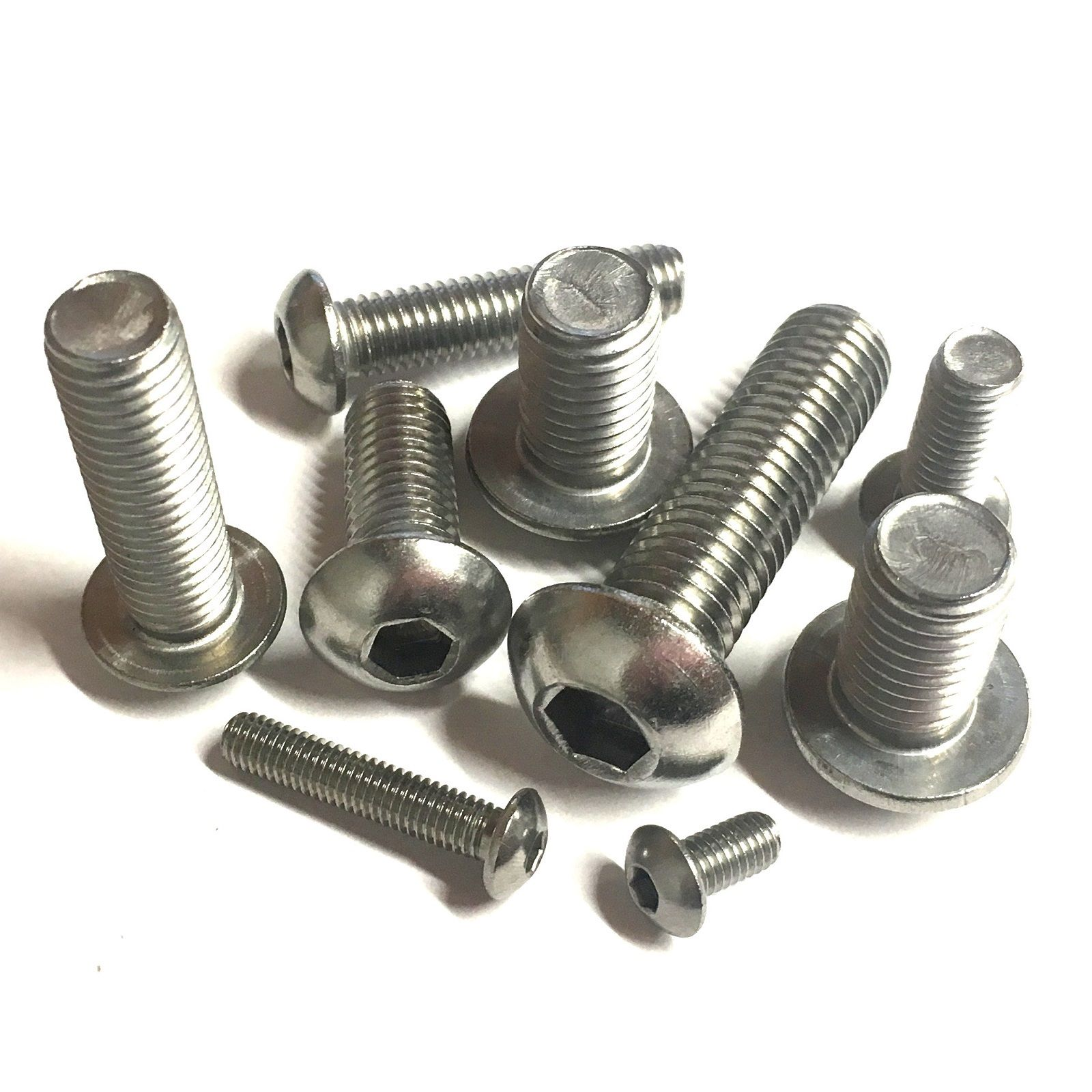 DOME HEAD ALLEN SOCKET BOLTS A2 STAINLESS STEEL M3 FLANGED BUTTON HEAD SCREWS