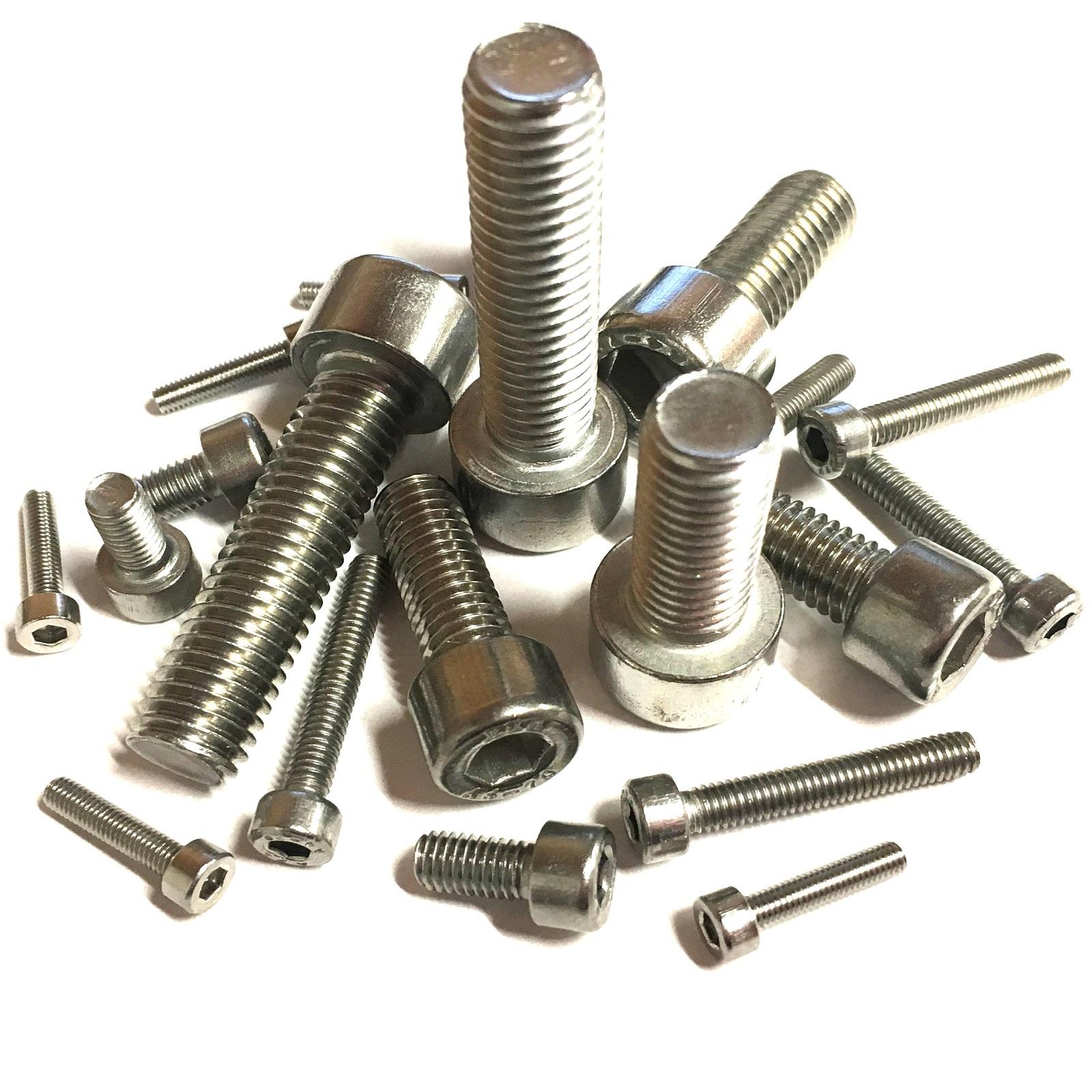 M3 A4 Acero Inoxidable Socket Tapa Tornillos 3mm Llave Allen De Pernos de cabeza hexagonal Marino